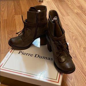 Pierre Dumas lace up booties w/ zipper New